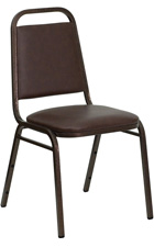 Stacking Banquet Chairs Brown