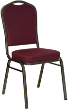 Stacking Banquet Chairs Burgundy