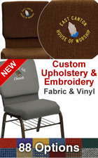 Custom Church Chairs Available with Embroidery