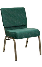 Wide Church Chairs in Green