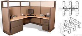 Office Cubicles and Modular Workstations
