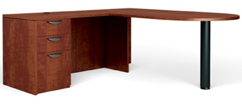 Executive Desk in Dark Cherry Laminate